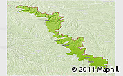 Physical Panoramic Map of Dubasari, lighten