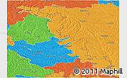 Political Panoramic Map of Dubasari