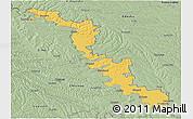 Savanna Style Panoramic Map of Dubasari