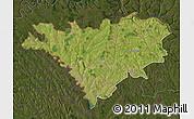 Satellite Map of Edinet, darken
