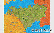 Satellite Map of Edinet, political outside