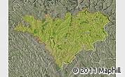 Satellite Map of Edinet, semi-desaturated