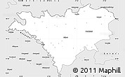 Silver Style Simple Map of Edinet