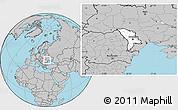 Blank Location Map of Moldova, gray outside