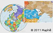Blank Location Map of Moldova, political outside