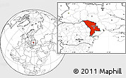 Blank Location Map of Moldova