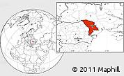 Blank Location Map of Moldova