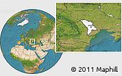 Blank Location Map of Moldova, satellite outside