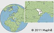 Blank Location Map of Moldova, savanna style outside