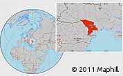 Gray Location Map of Moldova