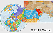 Political Location Map of Moldova