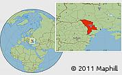 Savanna Style Location Map of Moldova