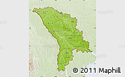 Physical Map of Moldova, lighten
