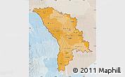 Political Shades Map of Moldova, lighten