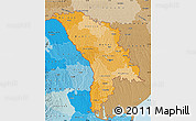 Political Shades Map of Moldova