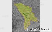 Satellite Map of Moldova, desaturated