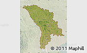 Satellite Map of Moldova, lighten