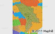 Satellite Map of Moldova, political outside