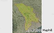 Satellite Map of Moldova, semi-desaturated