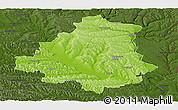 Physical Panoramic Map of Orhei, darken