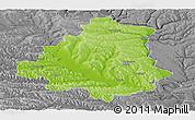 Physical Panoramic Map of Orhei, desaturated