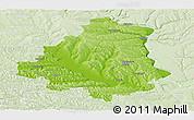 Physical Panoramic Map of Orhei, lighten