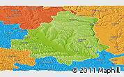 Physical Panoramic Map of Orhei, political outside