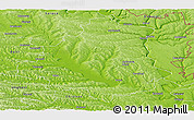 Physical Panoramic Map of Orhei