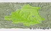 Physical Panoramic Map of Orhei, semi-desaturated