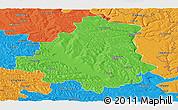 Political Panoramic Map of Orhei
