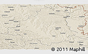 Shaded Relief Panoramic Map of Orhei