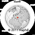 Outline Map of Moldova