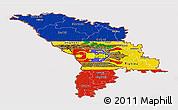 Flag Panoramic Map of Moldova, flag rotated
