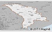 Gray Panoramic Map of Moldova