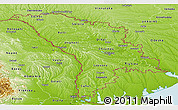 Physical Panoramic Map of Moldova