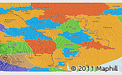 Political Panoramic Map of Moldova