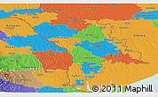 Political Panoramic Map of Moldova