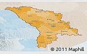 Political Shades Panoramic Map of Moldova, lighten