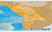 Political Shades Panoramic Map of Moldova