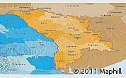 Political Shades Panoramic Map of Moldova