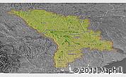 Satellite Panoramic Map of Moldova, desaturated