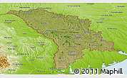 Satellite Panoramic Map of Moldova, physical outside