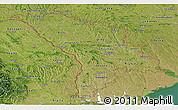 Satellite Panoramic Map of Moldova