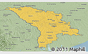 Savanna Style Panoramic Map of Moldova
