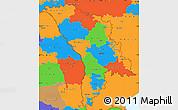 Political Simple Map of Moldova