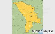 Savanna Style Simple Map of Moldova
