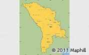Savanna Style Simple Map of Moldova, single color outside