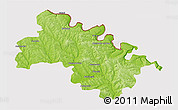 Physical 3D Map of Soroca, cropped outside