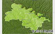 Physical 3D Map of Soroca, darken
