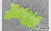Physical 3D Map of Soroca, desaturated